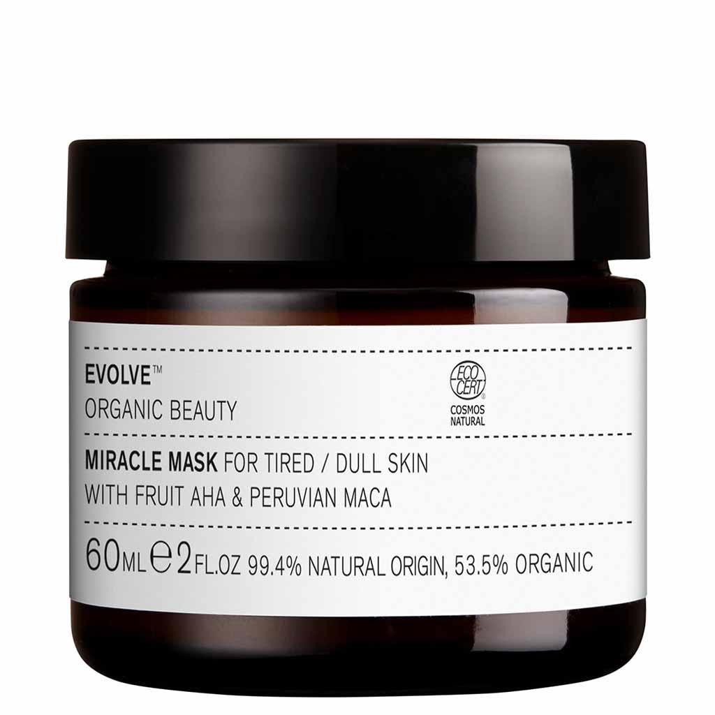 Evolve Organic Beauty Miracle Mask AHA Kuoriva hedelmähapponaamio 60 ml (Uudistunut ruohopakkaus)