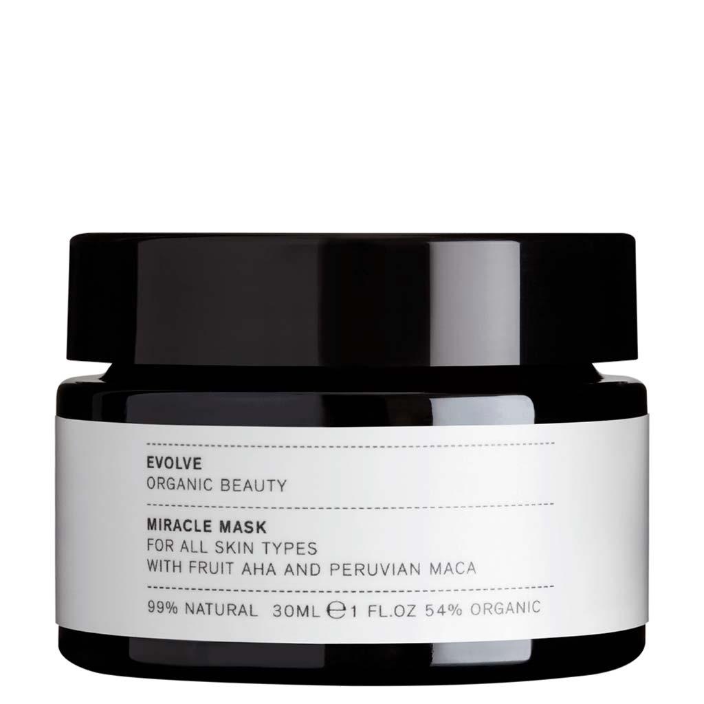 Evolve Organic Beauty Miracle Mask AHA Kuoriva hedelmähapponaamio Matkakoko 30ml