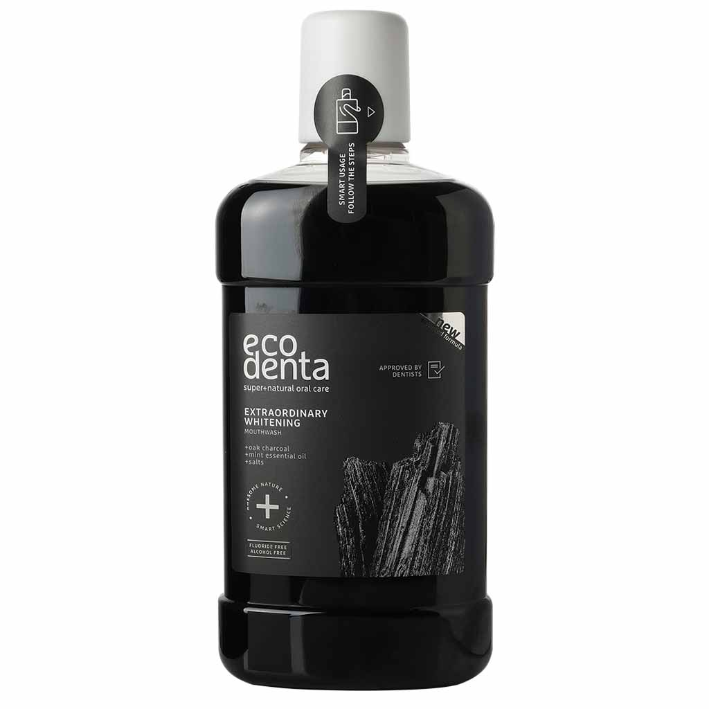 Ecodenta Extraordinary Whitening Mouthwash Valkaiseva Suuvesi 500 ml