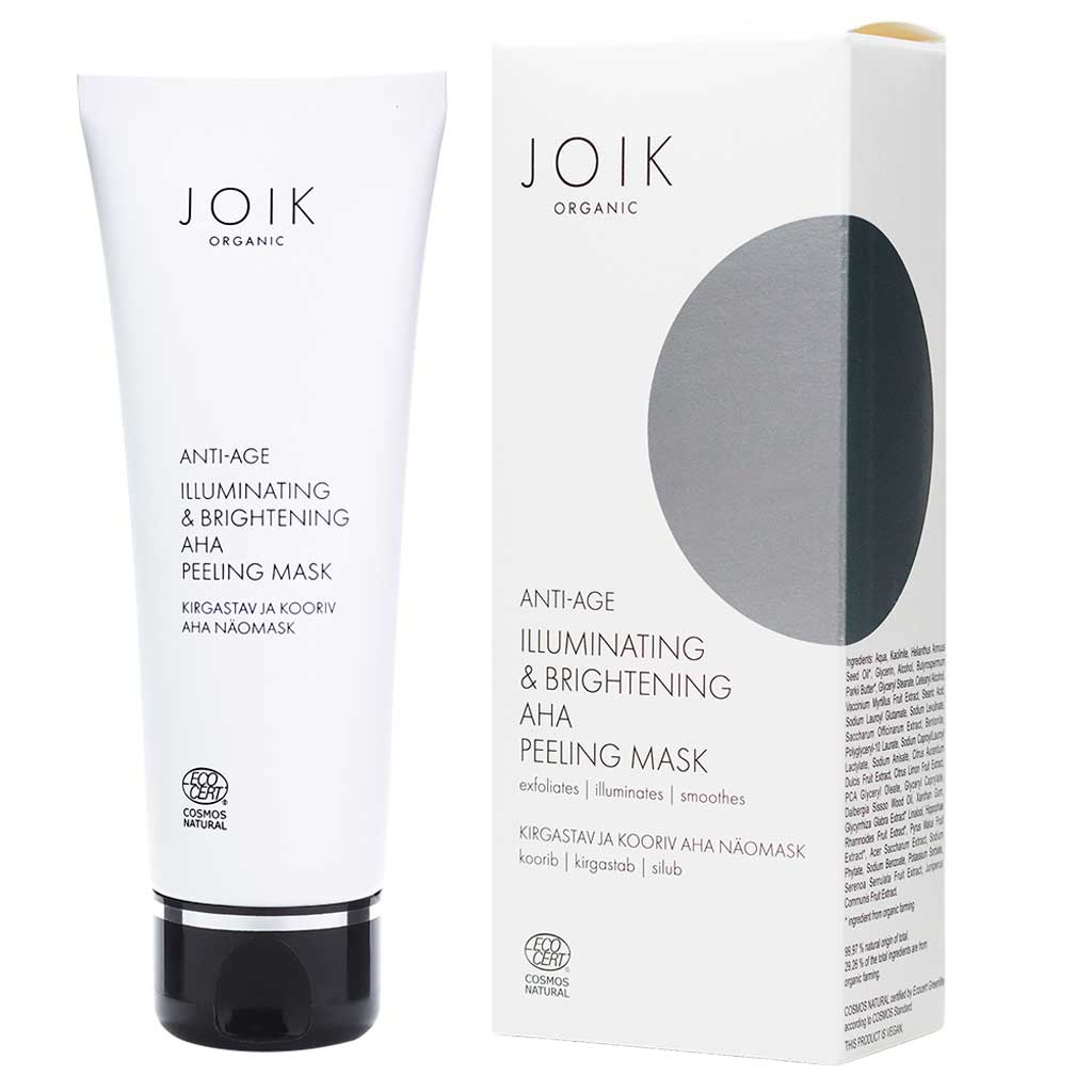 JOIK Organic Illuminating & Brightening AHA Peeling Mask Kasvonaamio 75 ml