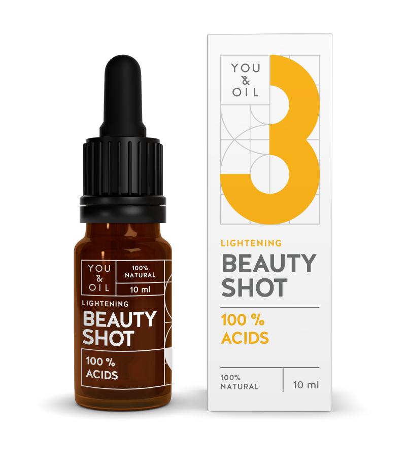 YOU & OIL 100 % Beauty Shot 3 Hapot Kirkastava 10 ml