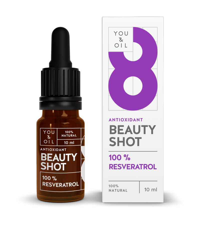 YOU & OIL 100 % Beauty Shot 8 Resveratroli Antioksidantti 10 ml