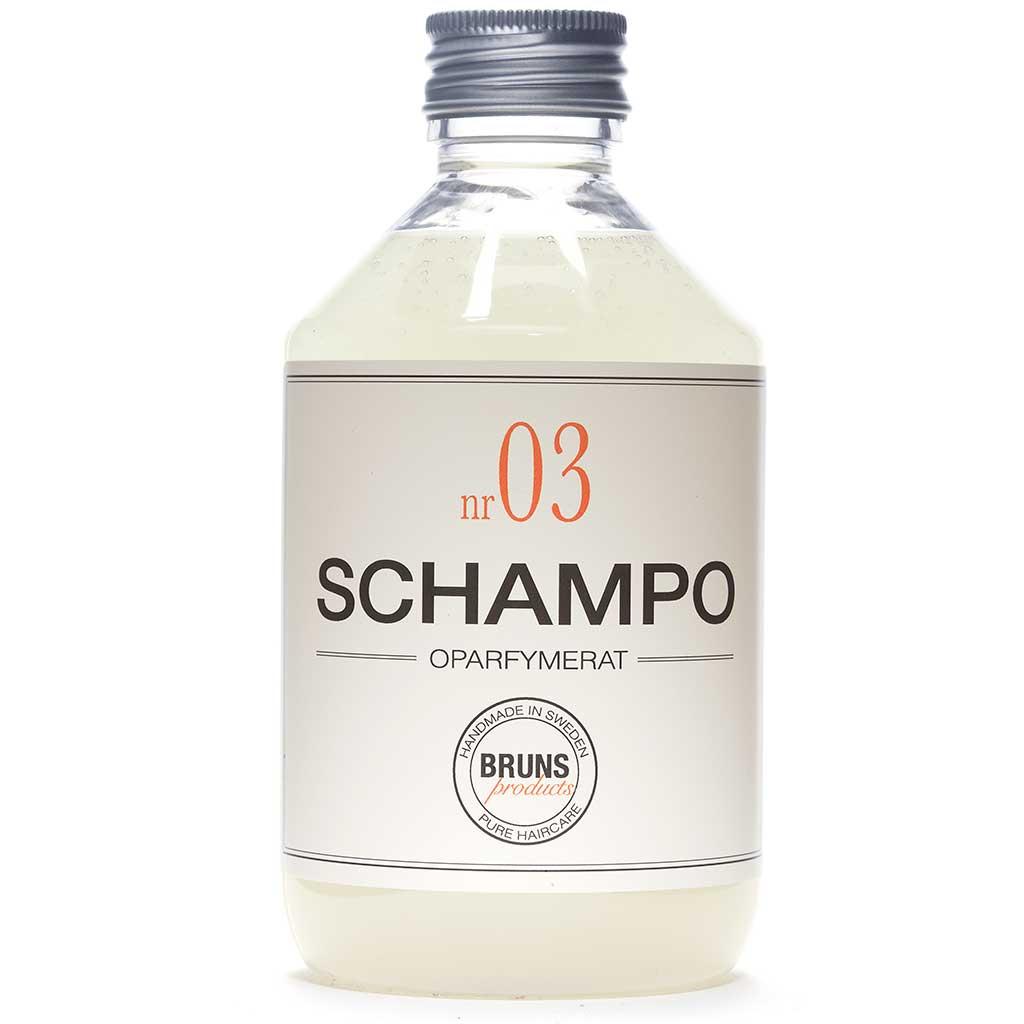 BRUNS Products Nr03 Unscented Shampoo Hajusteeton Shampoo 330 ml