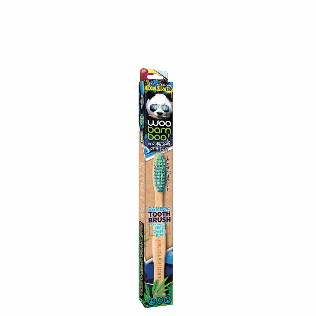 WooBamboo Zero Waste Kids Bamboo Toothbrush Lasten Hammasharja