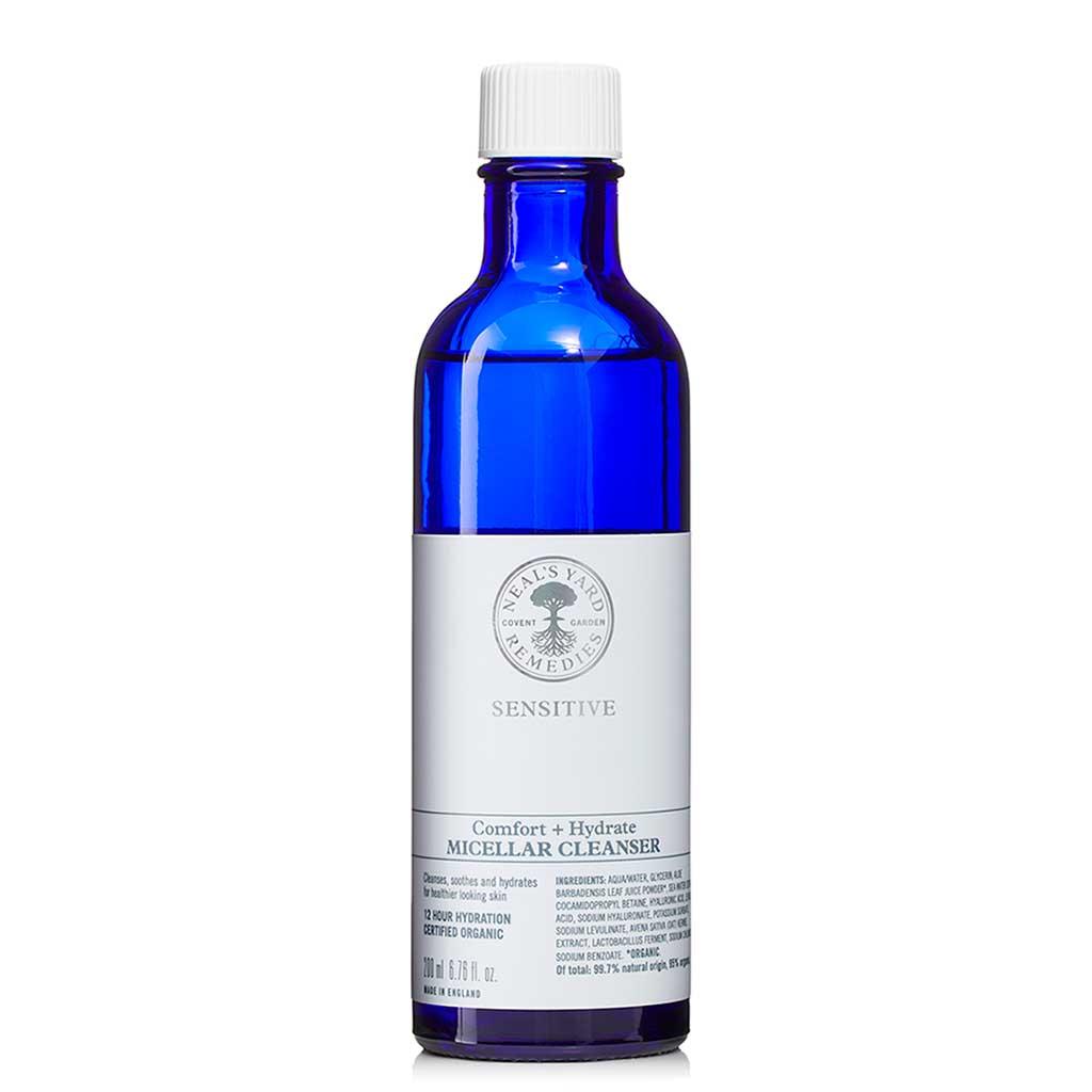 Neal's Yard Remedies Sensitive Comfort + Hydrate Micellar Cleanser Kasvojen puhdistusaine 200 ml