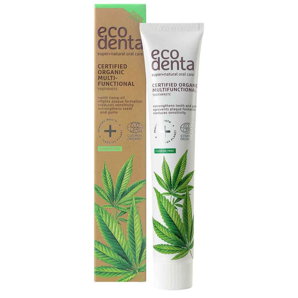 ECODENTA Multifunctional Hemp Toothpaste Hamppuhammastahna 75ml LUOMU