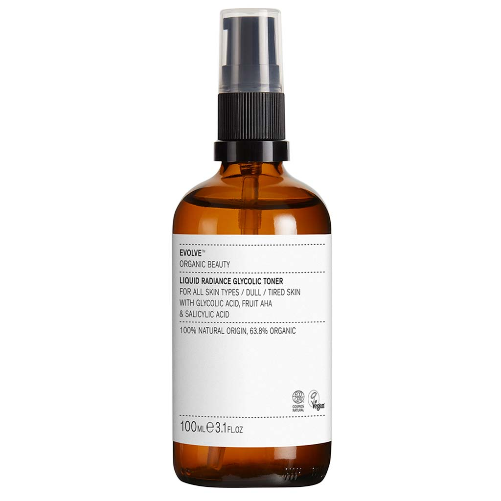 Evolve Organic Beauty Liquid Radiance Glycolic Toner Kasvovesi 100 ml