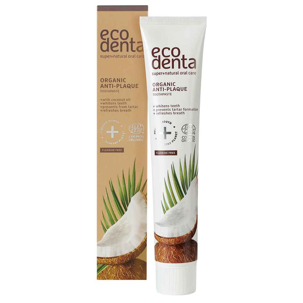 Ecodenta Anti-plaque toothpaste anti-plakki Kookos hammastahna 75 ml LUOMU
