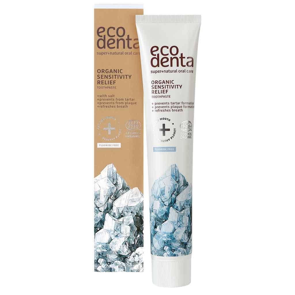 ECODENTA sensitivity relief toothpaste with salt Suolahammastahna 75ml LUOMU