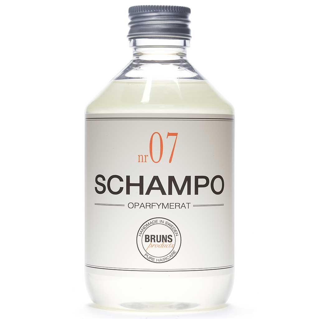 BRUNS Products Nr07 Unscented Hajusteeton Shampoo 330 ml