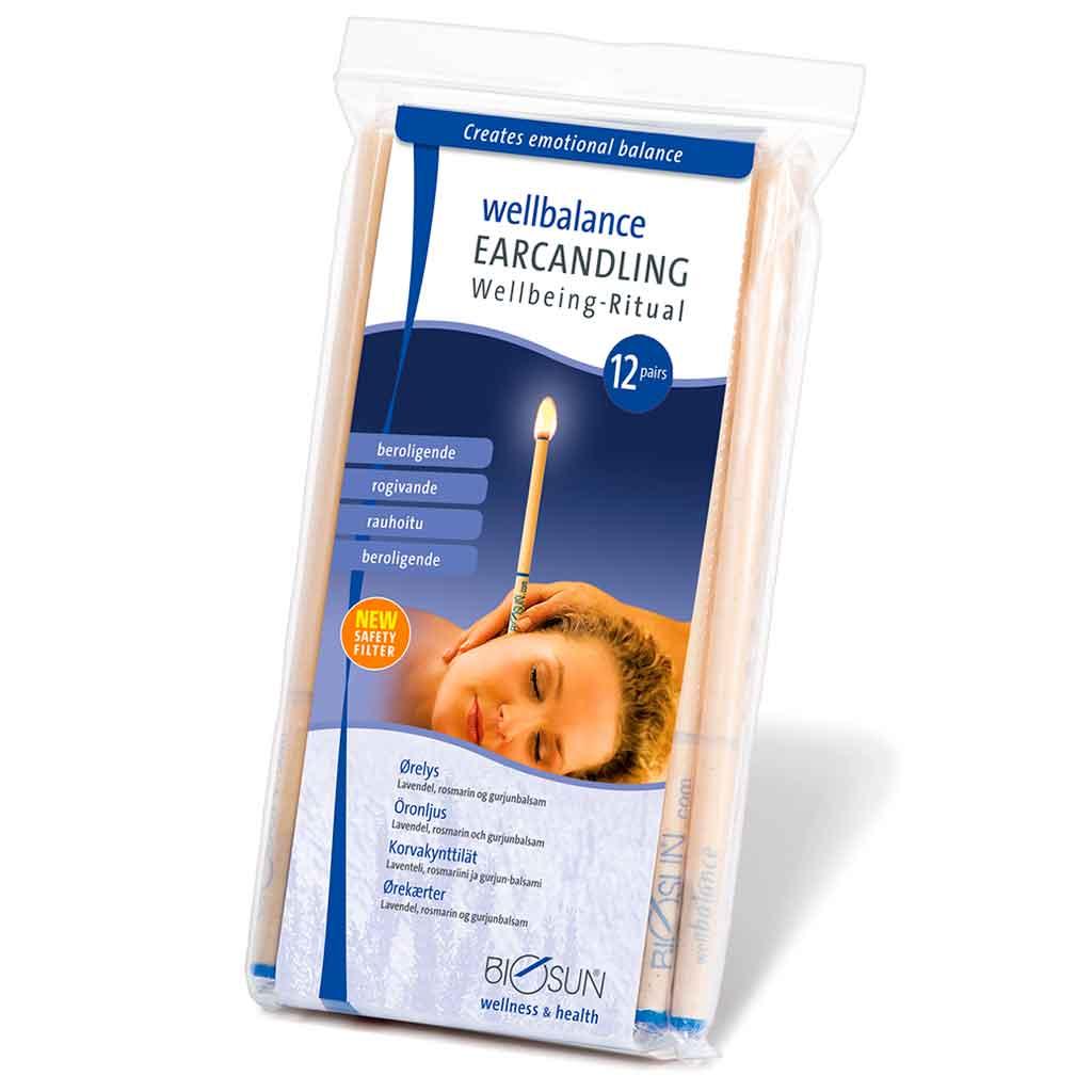 Biosun rauhoittava Wellbalance-korvakynttilä 12 kpl