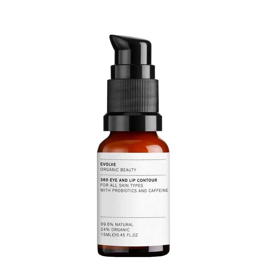 Evolve Organic Beauty 360 Eye & Lip Contour huulten- ja silmänympärysvoide