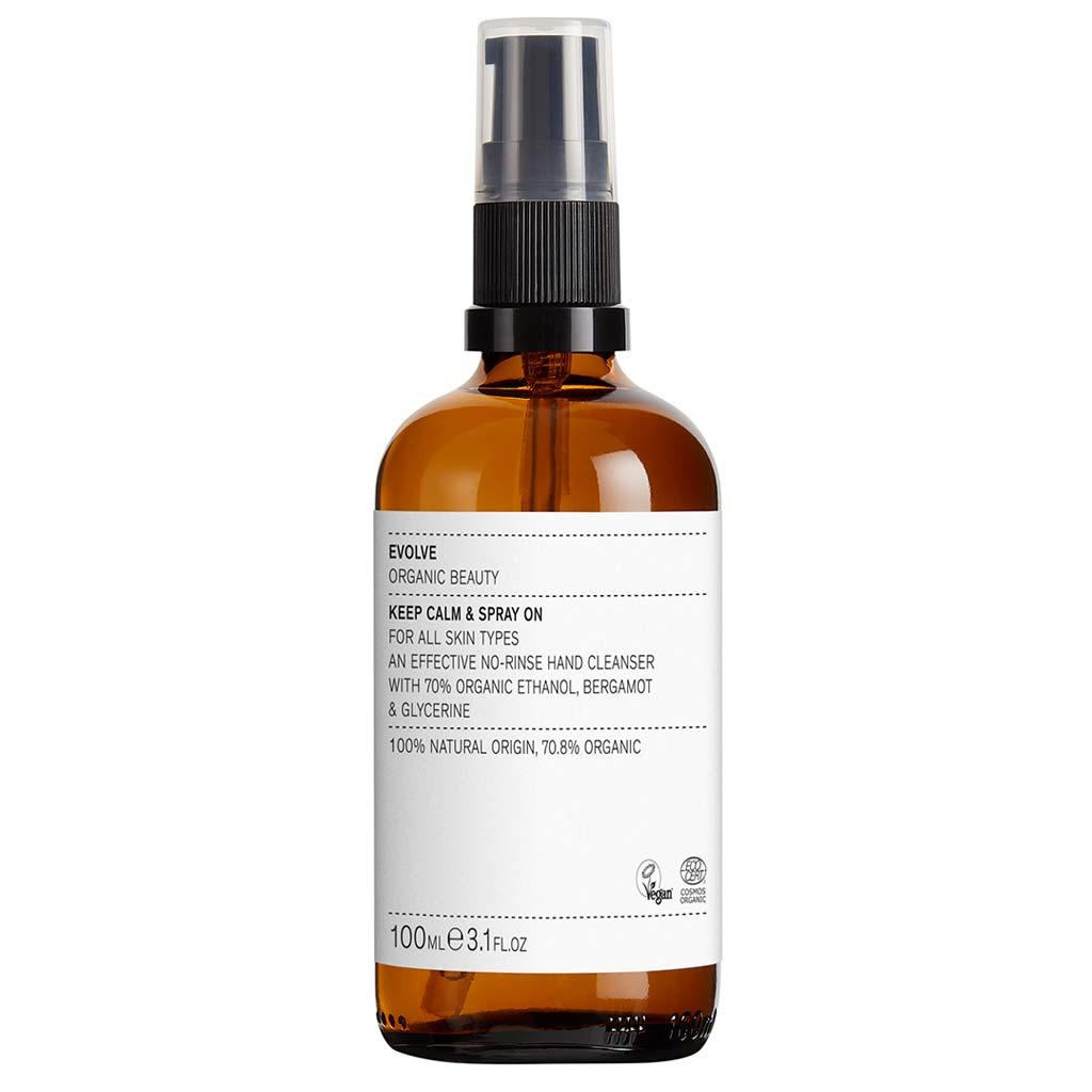 Evolve Organic Beauty Keep Calm & Spray On Käsihuuhde 100 ml