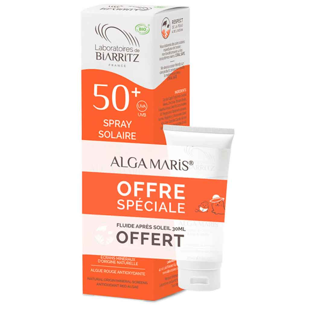 Alga Maris Kampanjapakkaus - Aurinkovoidespray SK50 + After sun 30ml