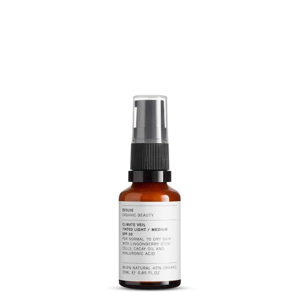 Evolve Organic Beauty Climate Veil Tinted SPF20 Light - Medium Sävyttävä Kasvovoide matkakoko 25ml