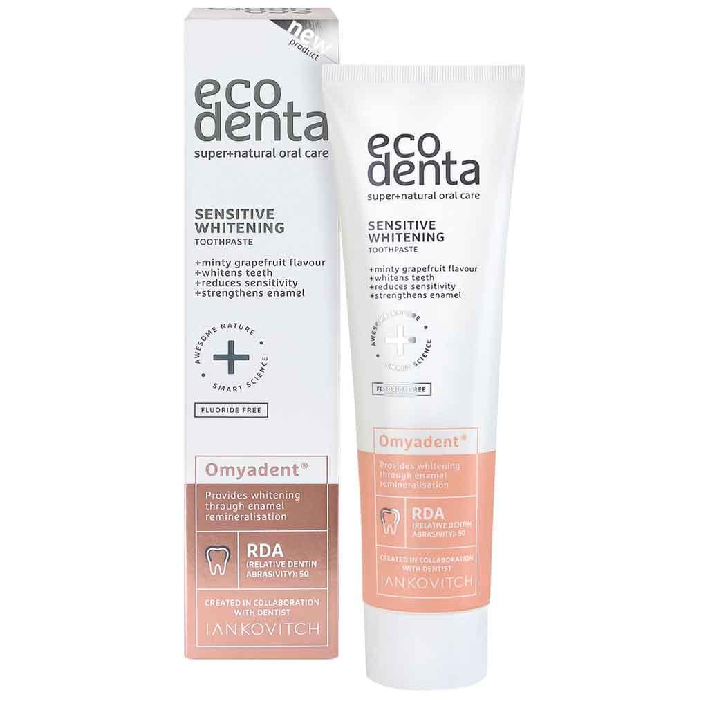 Ecodenta Sensitive Whitening Omyadent® Valkaiseva Hammastahna herkille hampaille 100 ml