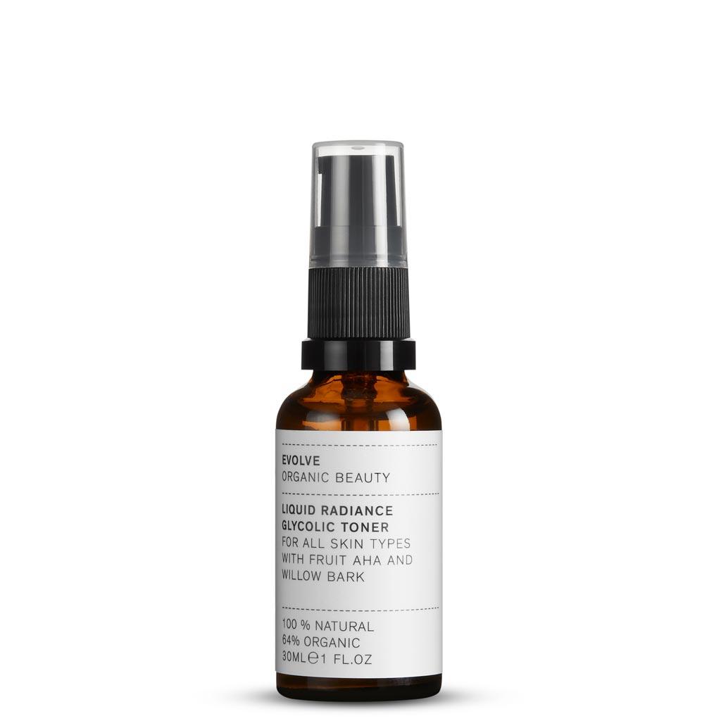 Evolve Organic Beauty Liquid Radiance Glycolic Toner Kasvovesi Matkakoko 30 ml