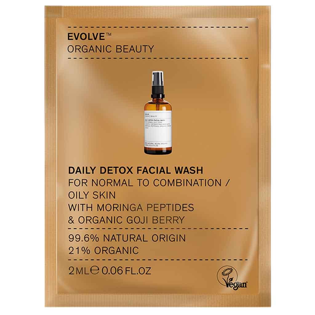 Evolve Organic Beauty Daily Detox Facial Wash Puhdistusgeeli 2 ml Näyte