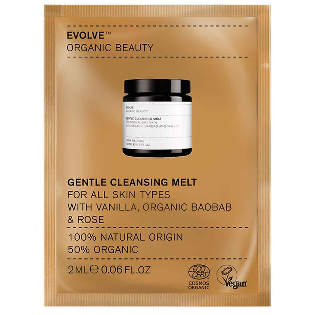 Evolve Organic Beauty Gentle Cleansing Melt Puhdistusbalmi 2 ml Näyte