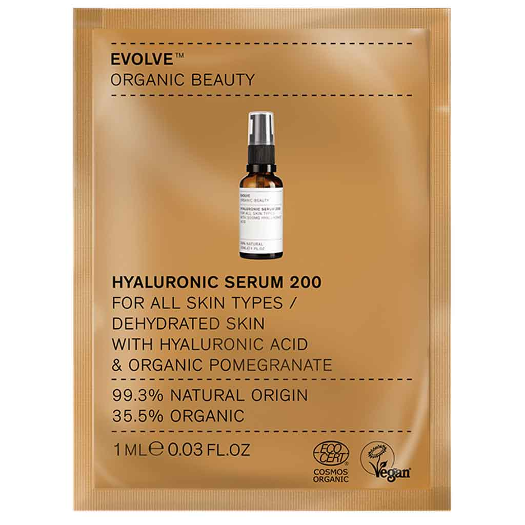 Evolve Organic Beauty Hyaluronic Serum 200 Hyaluronihapposeerumi 1 ml Näyte