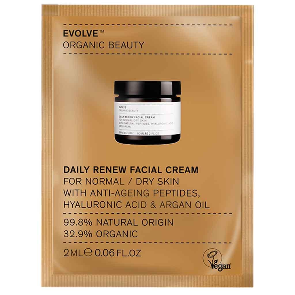 Evolve Organic Beauty Daily Renew Facial Cream Uudistava kasvovoide 2 ml Näyte