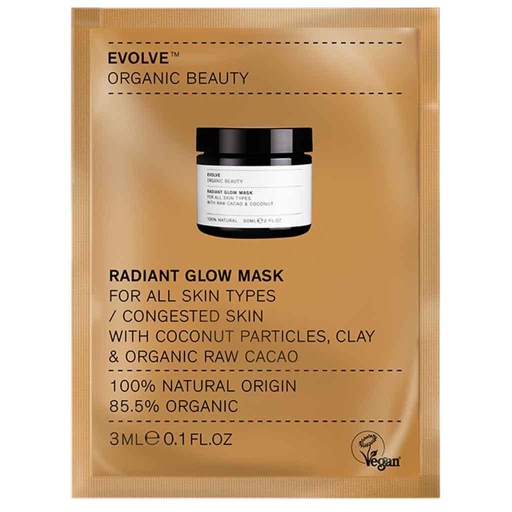 Evolve Organic Beauty Radiant Glow Mask Kasvonaamio 3 ml Näyte