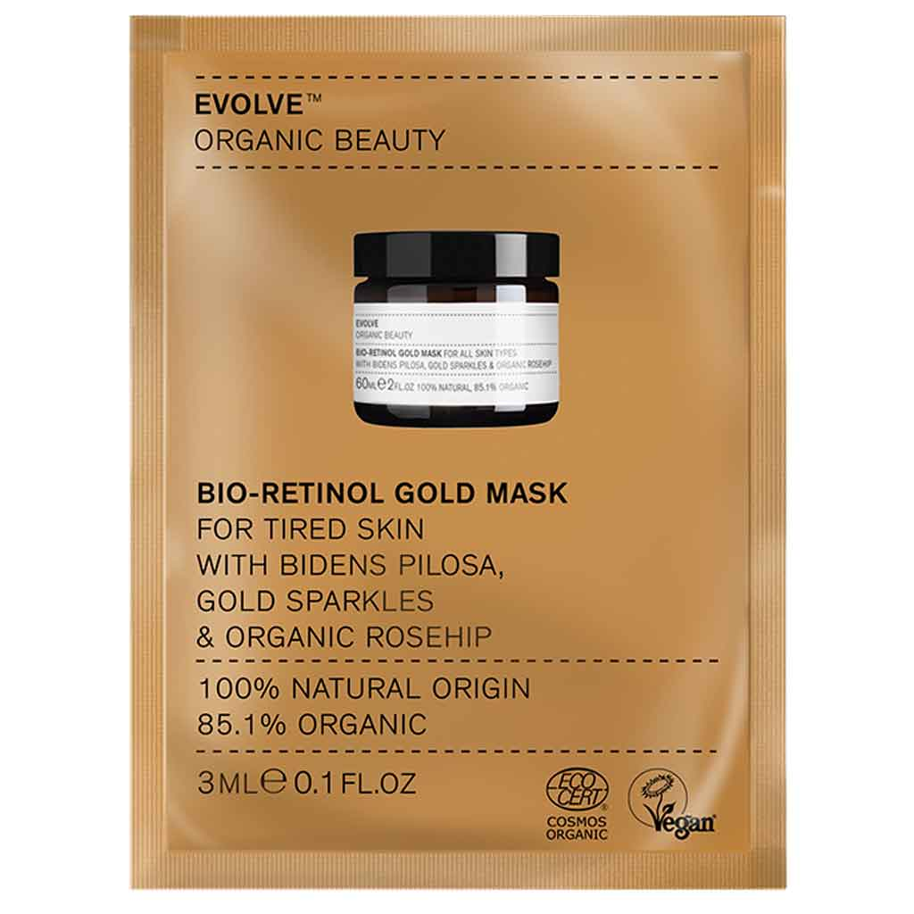 Evolve Organic Beauty Bio-Retinol Gold Mask Kasvonaamio 3 ml Näyte