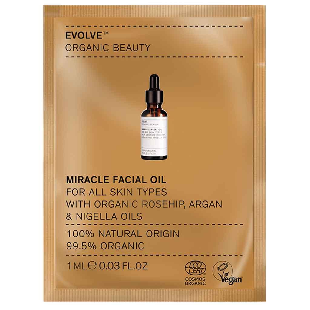 Evolve Organic Beauty Miracle Facial Oil Tuhkimo kasvoöljy 1 ml Näyte
