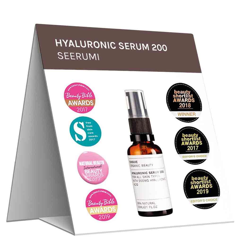 Evolve Organic Beauty Hyllypuhuja Hyaluronic Serum 200