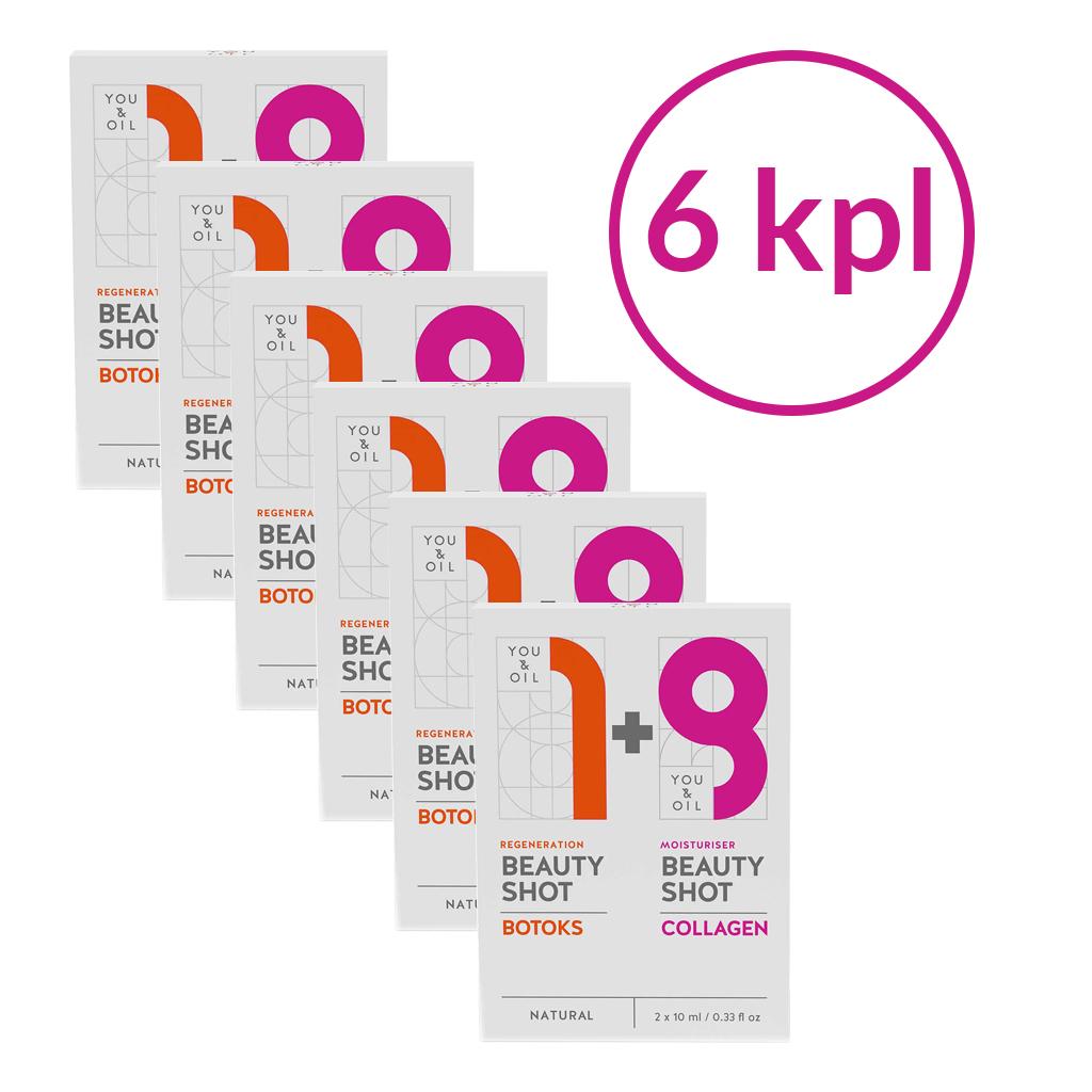 YOU & OIL Dual Pack Botoks + Kollageeni, 6 kpl paketti