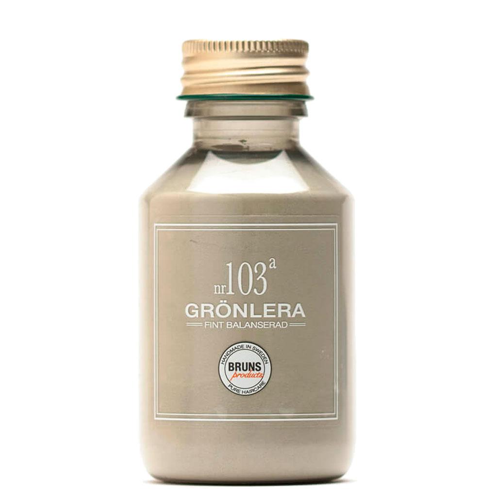 BRUNS Products Nr103a Green Clay Savinaamio Hiuspohjalle ja kasvoille 100 g
