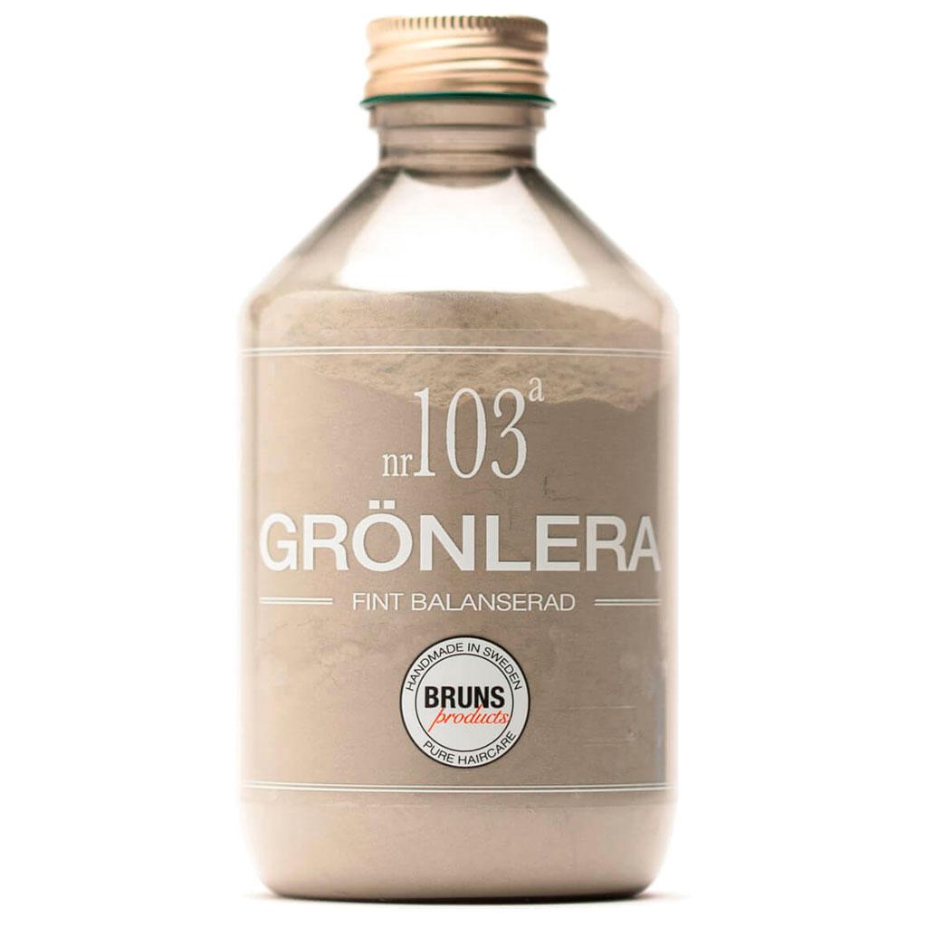 BRUNS Products Nr103a Green Clay Savinaamio Hiuspohjalle ja kasvoille 300 g