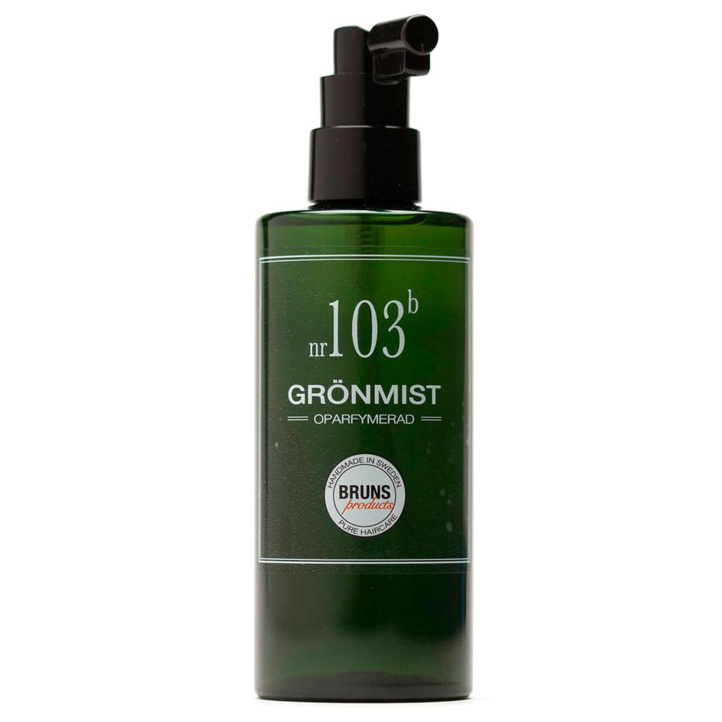 BRUNS Products Nr103b Unscented Green Mist Hajusteeton Suihke Hiuspohjalle ja kasvoille 200 ml