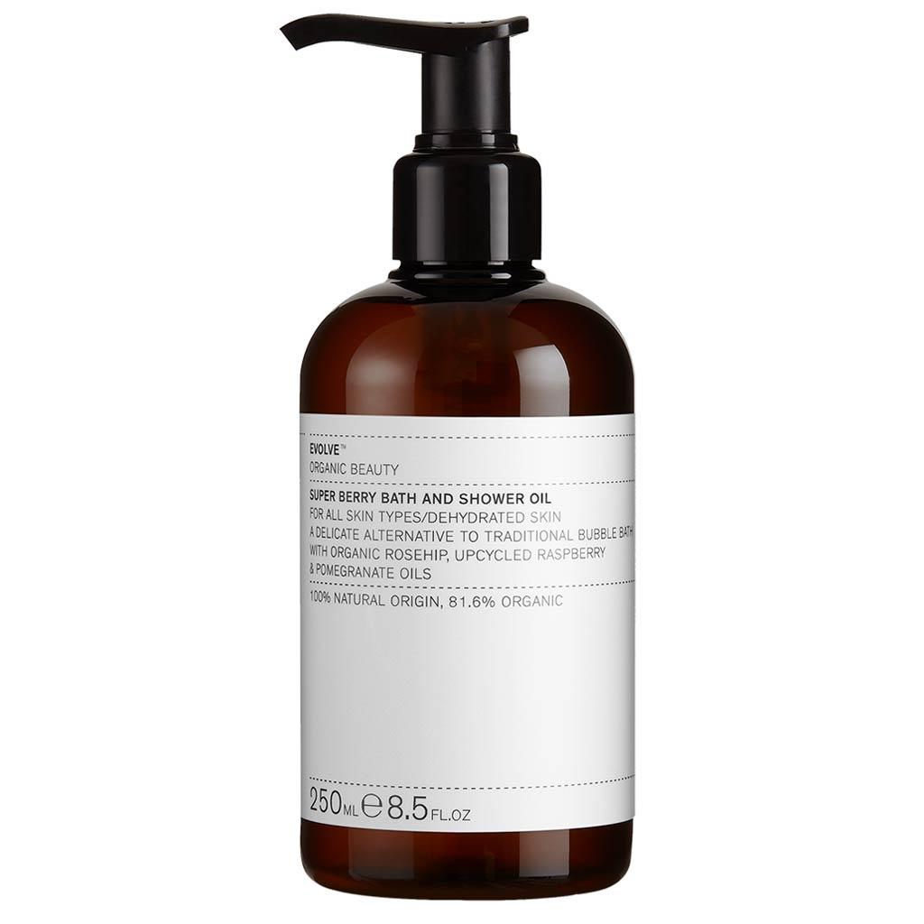 Evolve Organic Beauty Super Berry Bath and Shower Oil Suihkuöljy 250 ml