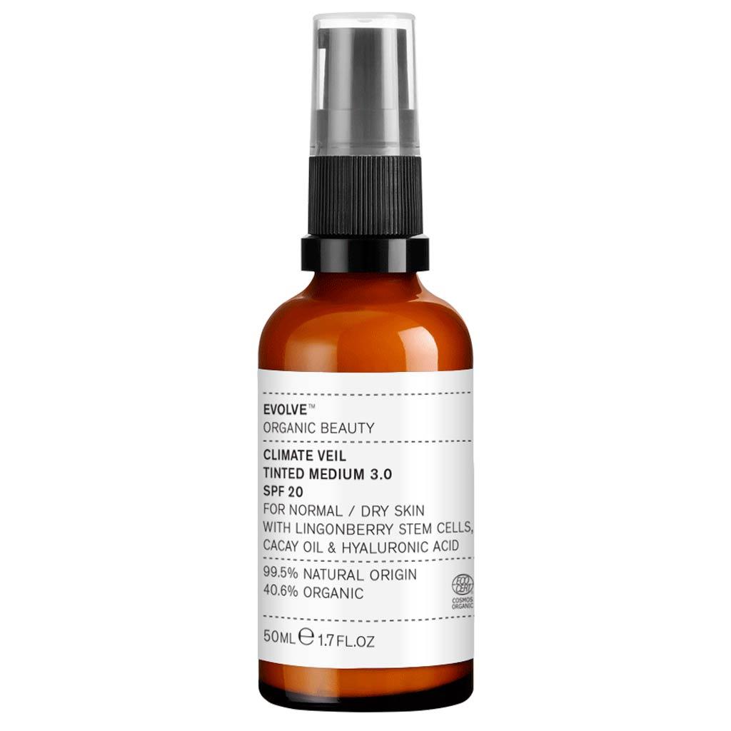 Evolve Organic Beauty Climate Veil Tinted SPF20 Medium Sävyttävä Kasvovoide 50 ml