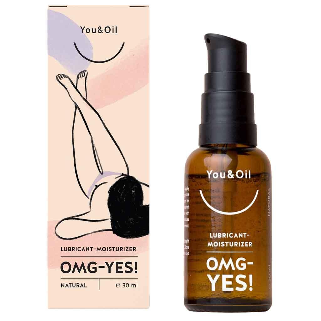 YOU & OIL Feminine Lubricant-Moisturizer OMG - YES! Vesipohjainen liukuvoide ja intiimialueen kosteuttaja 30 ml