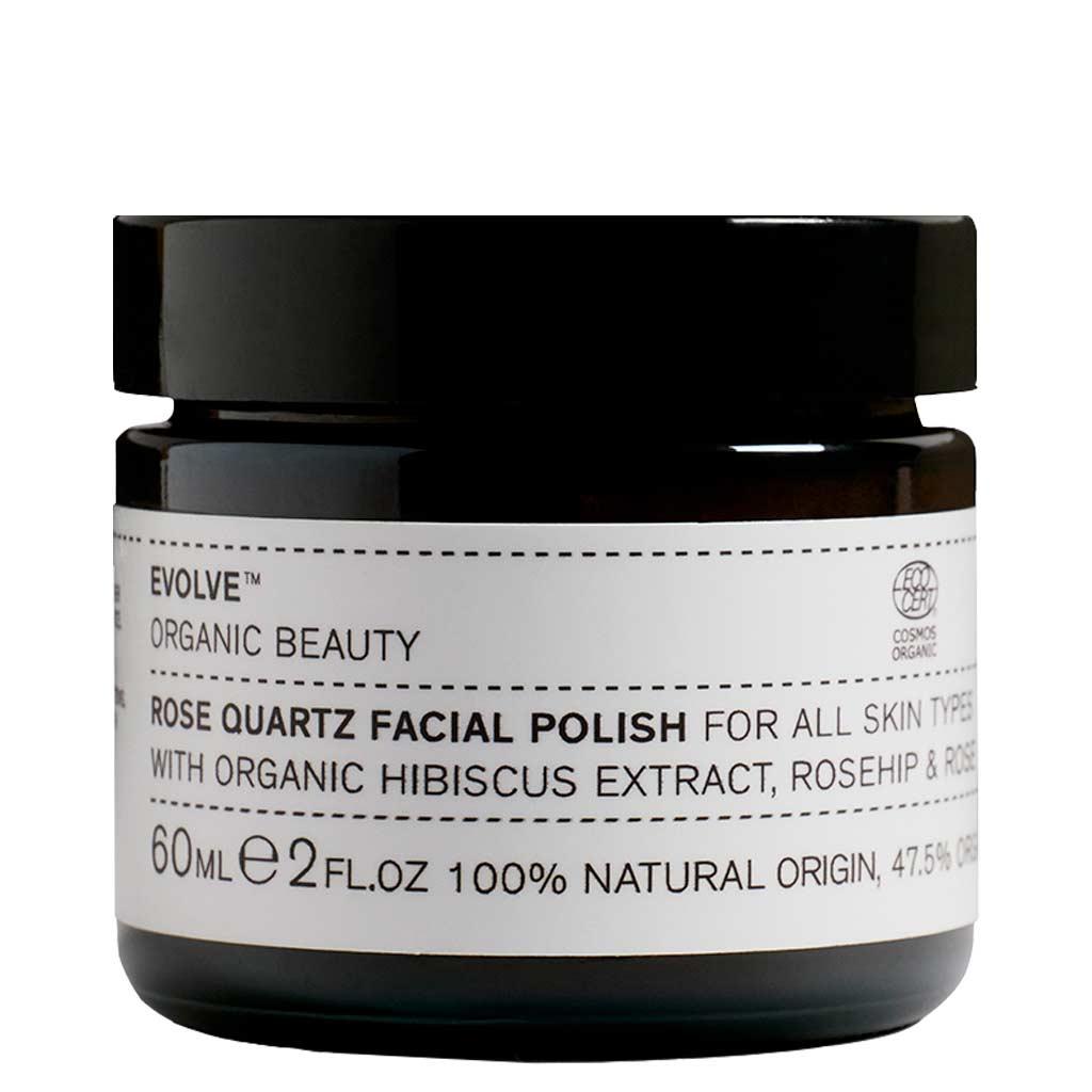 Evolve Organic Beauty Rose Quartz Facial Polish Ruusu & Kvartsi Kasvokuorinta 60 ml