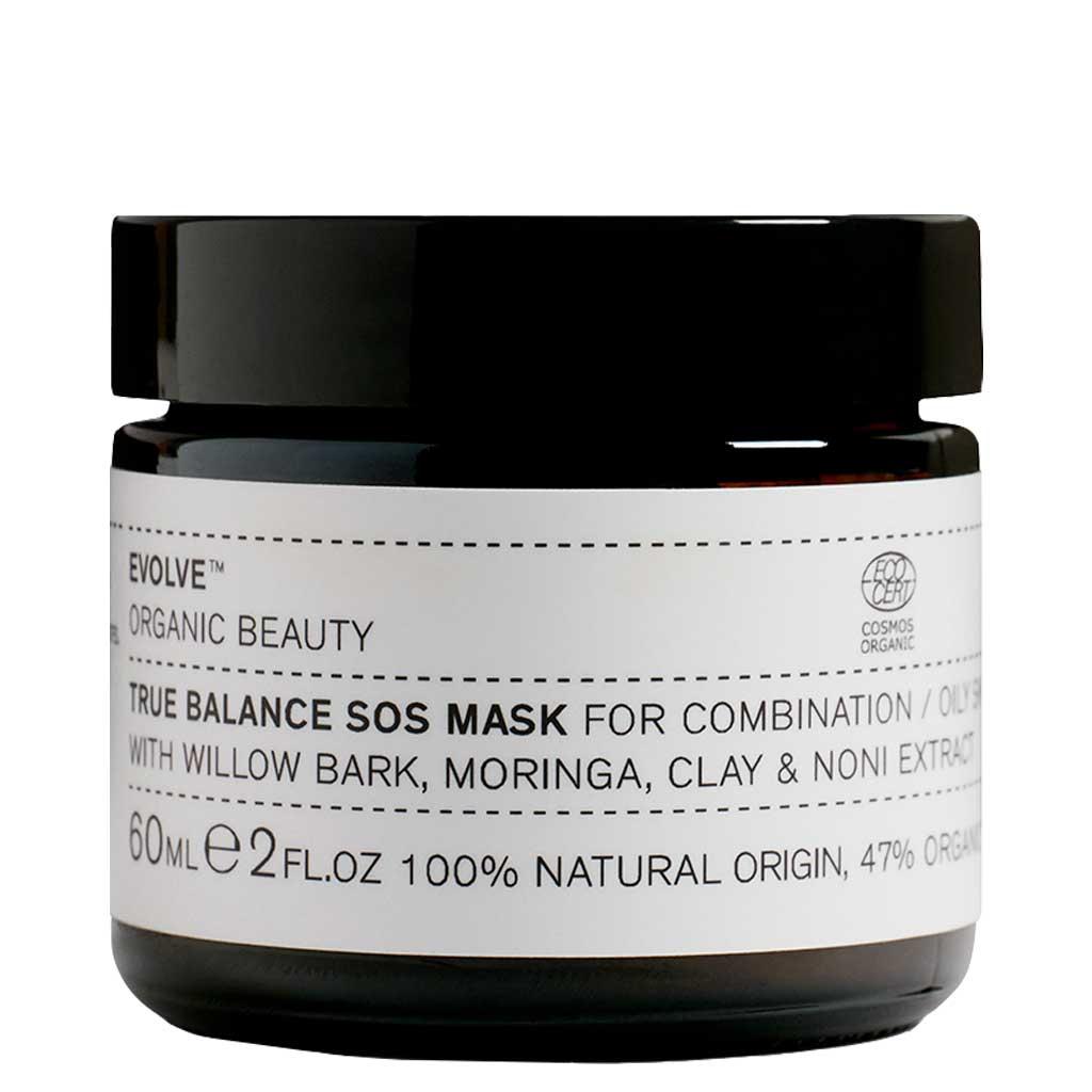 Evolve Organic Beauty True Balance SOS Mask Tasapainottava Kasvonaamio 60 ml