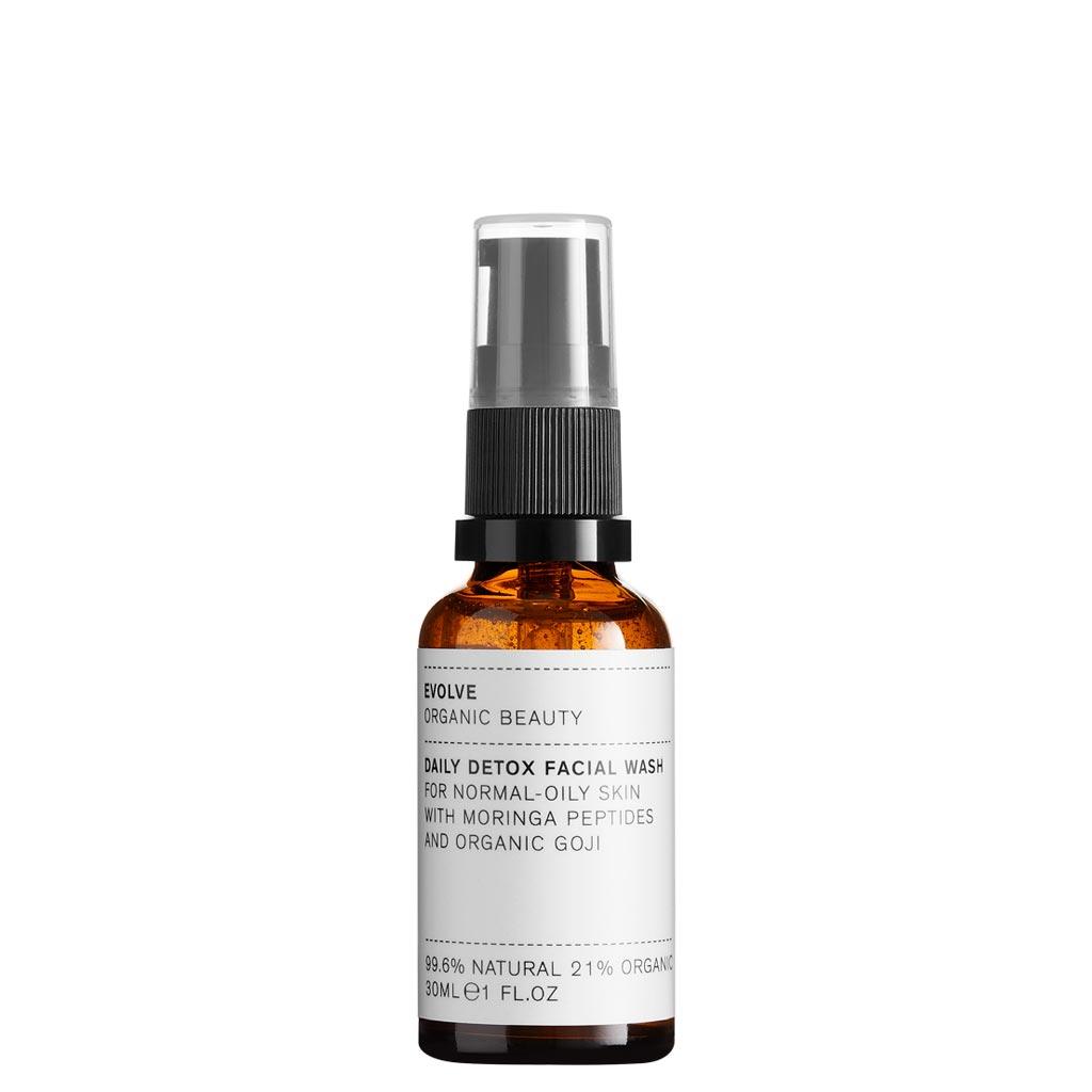 Evolve Organic Beauty Daily Detox Facial Wash Puhdistusgeeli Matkakoko 30ml