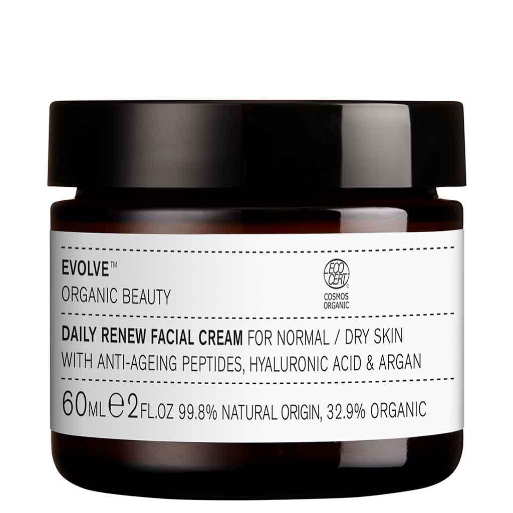 Evolve Organic Beauty Daily Renew Facial Cream Uudistava kasvovoide 60ml (UUDISTUNUT RUOHOPAKKAUS)