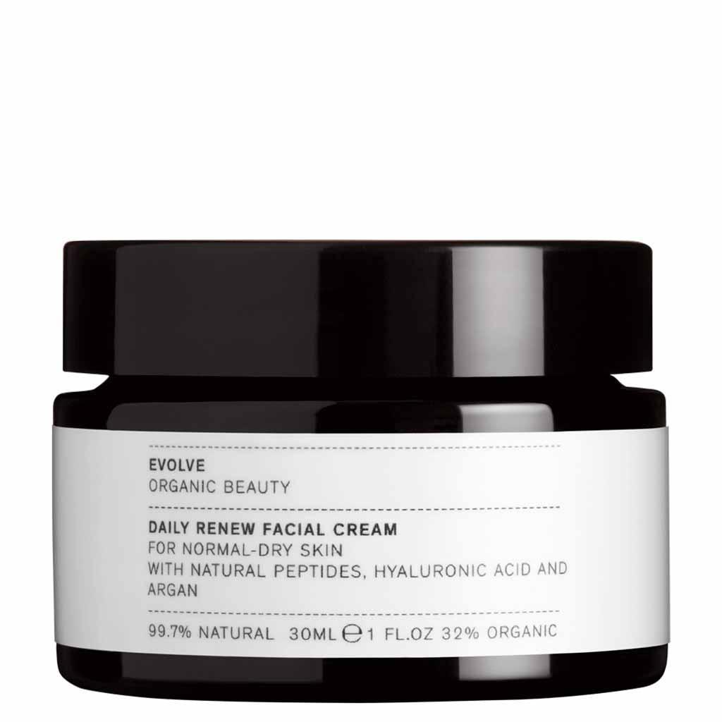 Evolve Organic Beauty Daily Renew Facial Cream Uudistava kasvovoide Matkakoko 30 ml