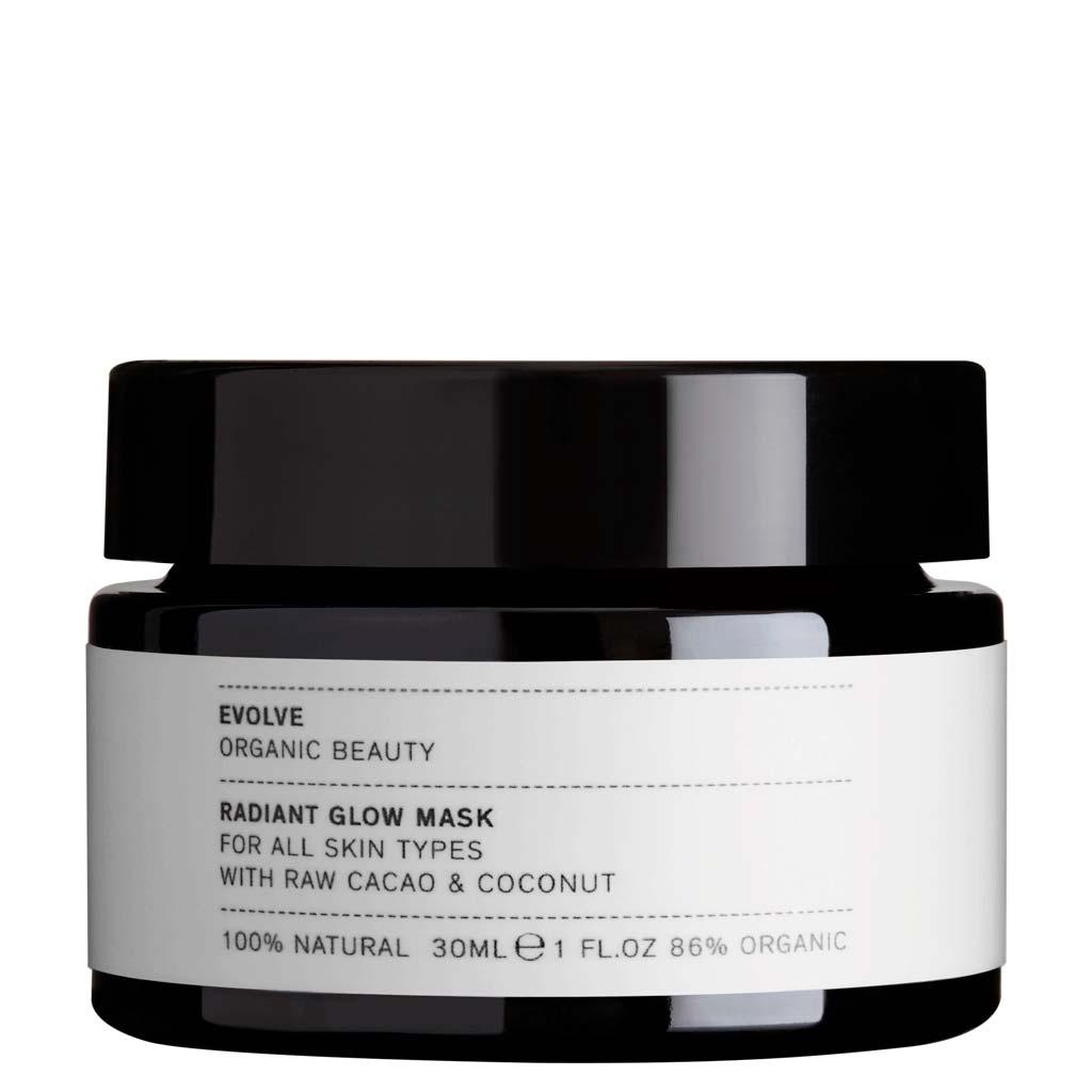 Evolve Organic Beauty Radiant Glow Mask Kasvonaamio Matkakoko 30ml