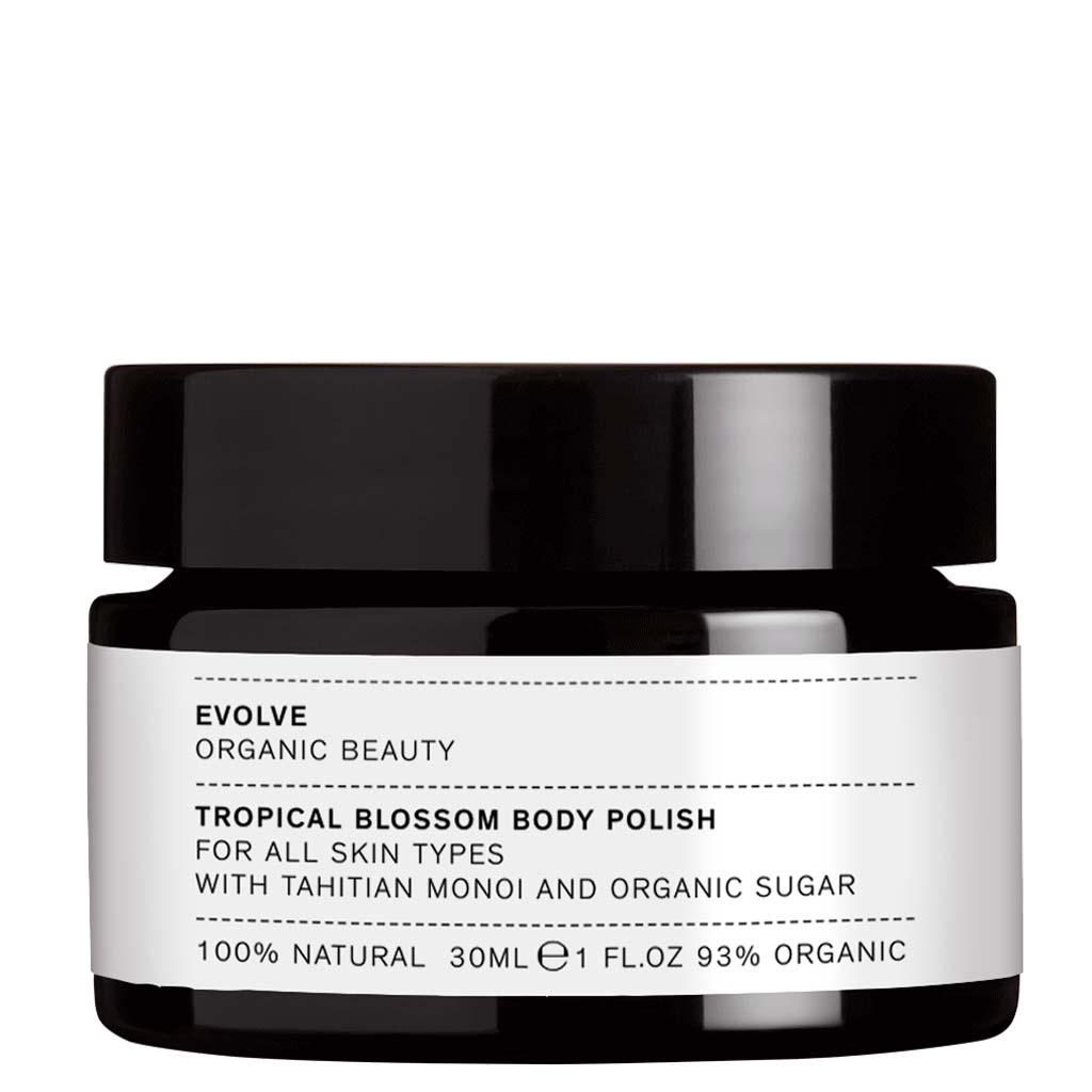 Evolve Organic Beauty Tropical Blossom Body Polish Sokerikuorinta Matkakoko 30ml