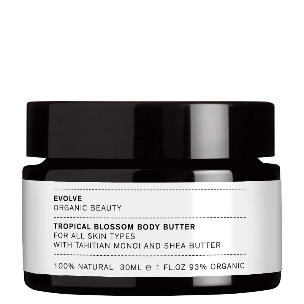 Evolve Organic Beauty Tropical Blossom Body Butter Vartalovoi Matkakoko 30ml