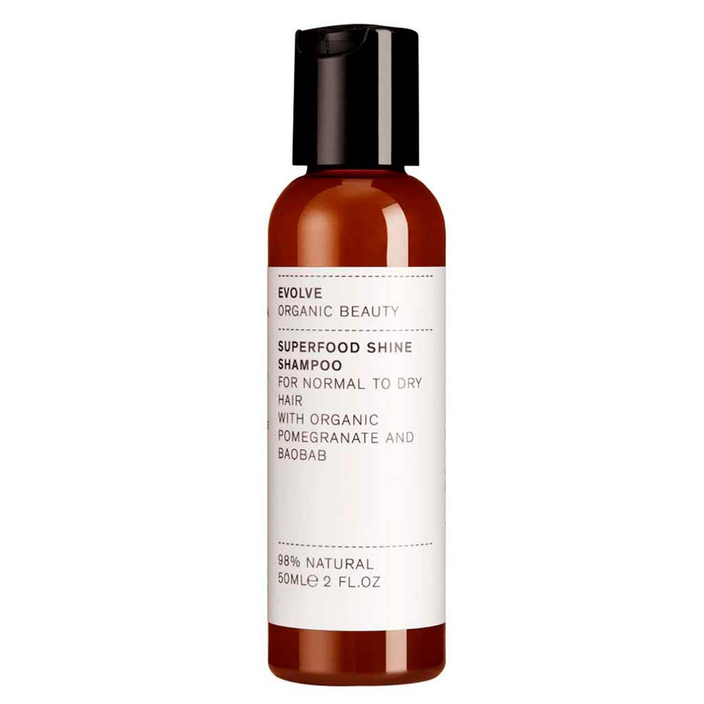 Evolve Organic Beauty Superfood Shine Shampoo Matkakoko 50ml