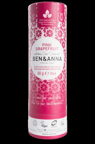 Ben & Anna Deodorantti Pink Grapefruit - Papertube