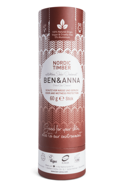 Ben & Anna Deodorantti Nordic Timber - Papertube